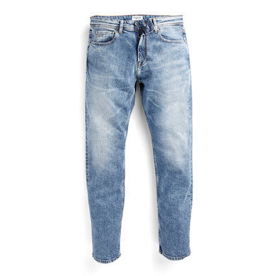 Regular fit jeans with zipper Blauw