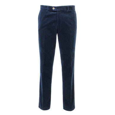 Eagle & Brown stretch katoenen corduroy chino donkerblauw Donkerblauw