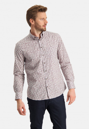 State of Art overhemd printed poplin button down