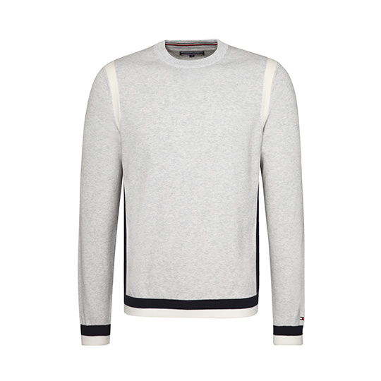 Tommy Hilfiger grijze colour tipped pullover