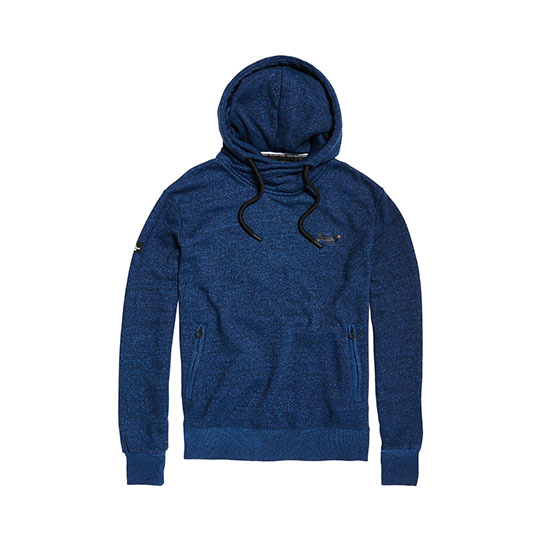 Superdry blauwe capuchonsweater