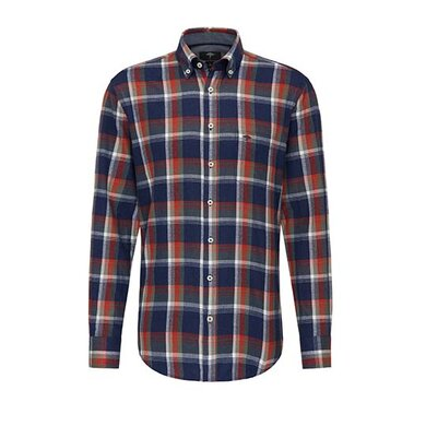 Fynch-Hatton overhemd flannel fond