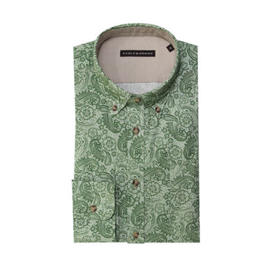 Eagle & Brown overhemd casual lichtgroen print Check green