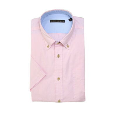Eagle & Brown overhemd casual roze korte mouwen
