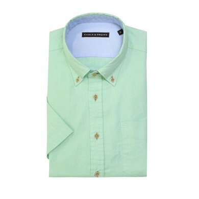 Eagle & Brown overhemd casual lichtgroen korte mouwen Light green