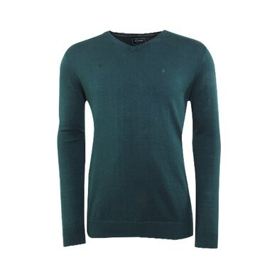 Adam est. 1916 v-hals pullover Forest Night Melange