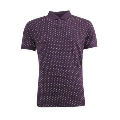 Vanguard polo korte mouwen print Plum Perfect