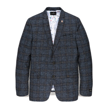 Vanguard Blazer ruit patroon Chambray blue