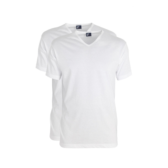 Alan Red wit Vermont T-shirt 2-pack White