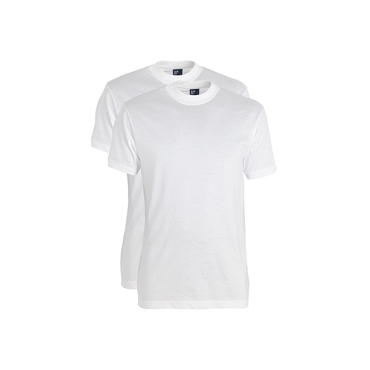Alan Red Virginia T-shirt 2-pack wit  White