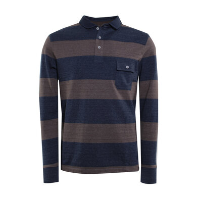 Eagle & Brown rugbyshirt streep Navy