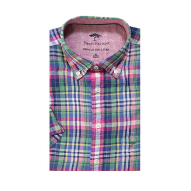 Fynch-Hatton short sleeve overhemd met check print