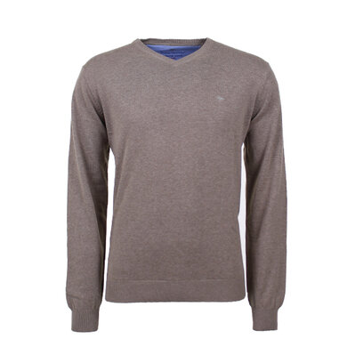 Fynch-Hatton v-neck pullover Taupe
