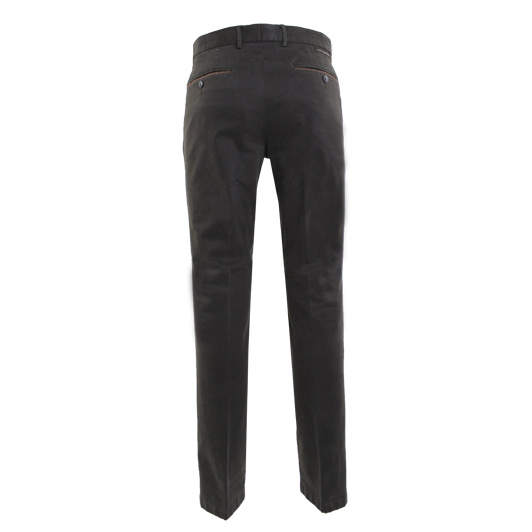 Eagle & Brown chino in stretch katoen olijfgroen uni