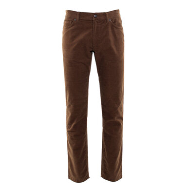 Eagle & Brown 5-pocket broek corduroy Brown