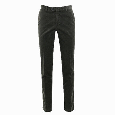 Duetz Tailors 1857 broek in stretch minicord stretch Middengroen