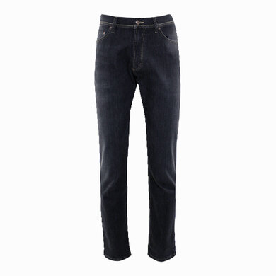Duetz Tailors 1857 5-pocket jeans in stretch denim zwart uni