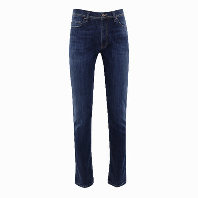 Duetz Tailors 1857 5-pocket jeans in stretch denim Middenblauw