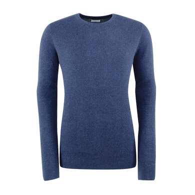 Cotton Sweater with structure Marine