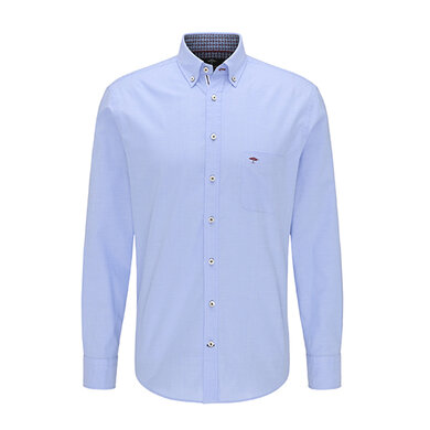 Fynch Hatton overhemd lange mouw Oxford Story Blue