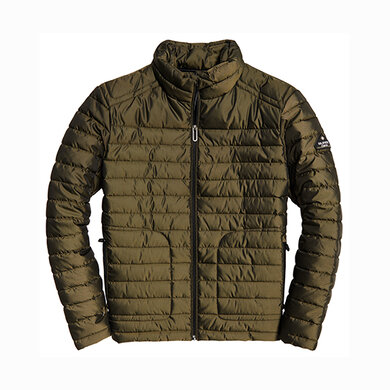 Superdry donsjack dubbele rits Army green