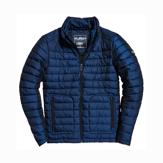 Superdry donsjack dubbele rits Navy