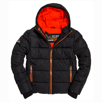 Superdry Sports Puffer zwart uni