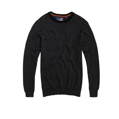 Superdry Orange Label Cotton  donkerbruin uni
