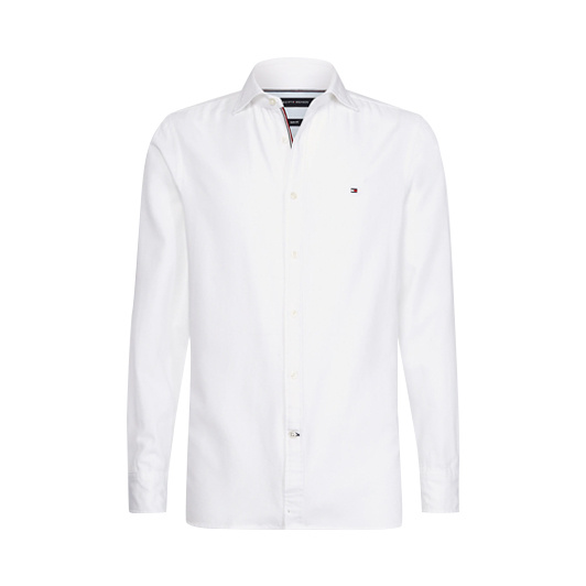 Tommy Hilfiger overhemd stretch slim Off-White