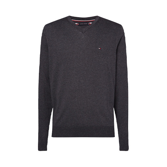 Tommy Hilfiger sweater cotton silk Middengrijs