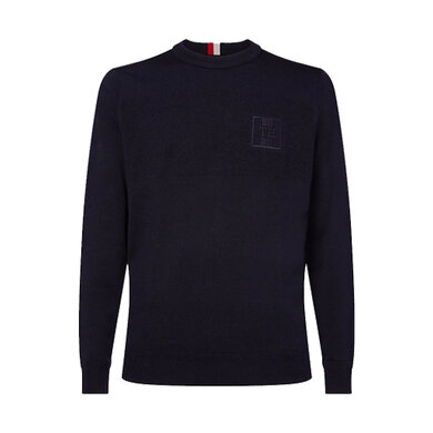 Tommy Hilfiger sweater structure Donkerblauw
