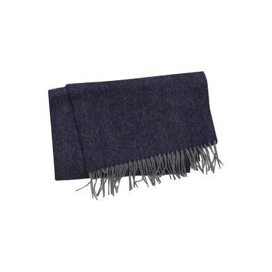 Profuomo sjaal wol blauw Navy
