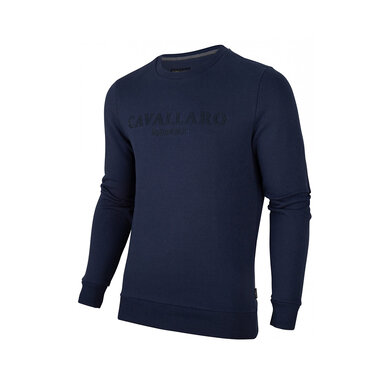 Cavallaro Sweater logo Dark blue