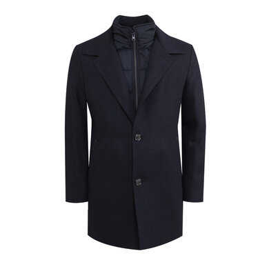 Adam coat half lang Blue