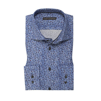 Eagle & Brown overhemd blauw print Print Blue