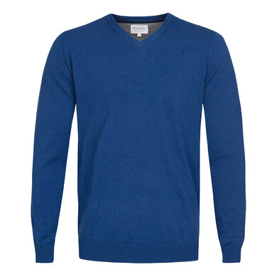 Michaelis Pullover v-hals Donkerblauw Royal
