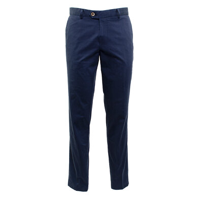 Duetz Tailors 1857 broek in Pima Cotton Stretch Donkerblauw