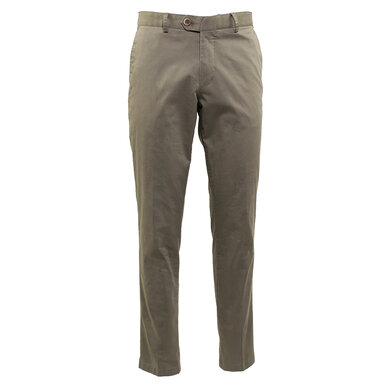 Duetz Tailors 1857 broek in Pima Cotton Stretch Olive