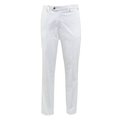 Duetz Tailors 1857 broek in Pima Cotton Stretch wit uni