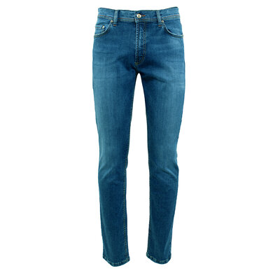 Duetz Tailors 1857 5-pocket jeans in stretch denim Lichtblauw
