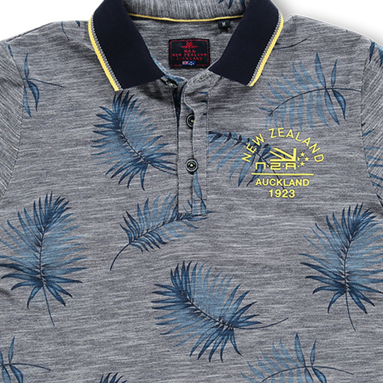 New Zealand Auckland Polo Bladerprint New navy