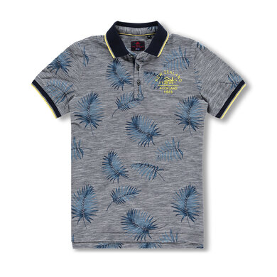 New Zealand Auckland Polo Bladerprint Blauw