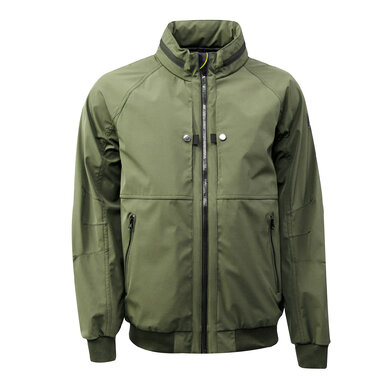 Duetz technical jacket stretch grasgroen uni
