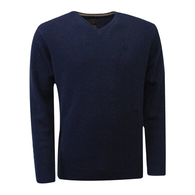 Eagle & Brown v-hals trui Donkerblauw/Donkerblauw