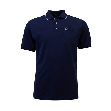 Eagle & Brown Polo Basic Korte Mouw Donkerblauw/Donkerblauw
