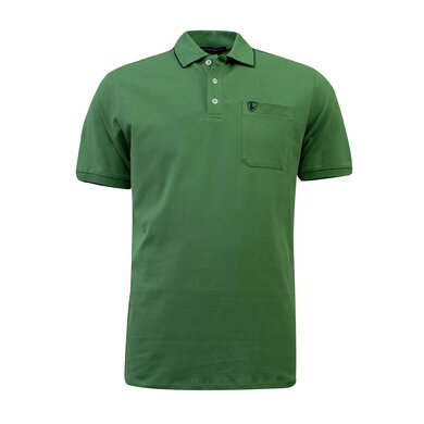 Eagle & Brown Polo Basic Korte Mouw grasgroen uni