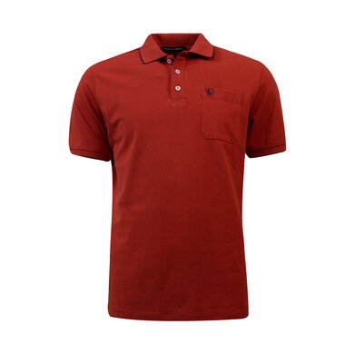 Eagle & Brown Polo Basic Korte Mouw Rood