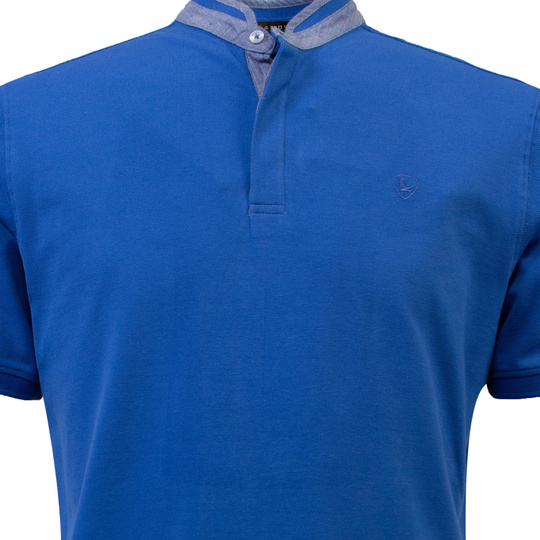 Eagle & Brown Polo Korte Mouw middenblauw uni