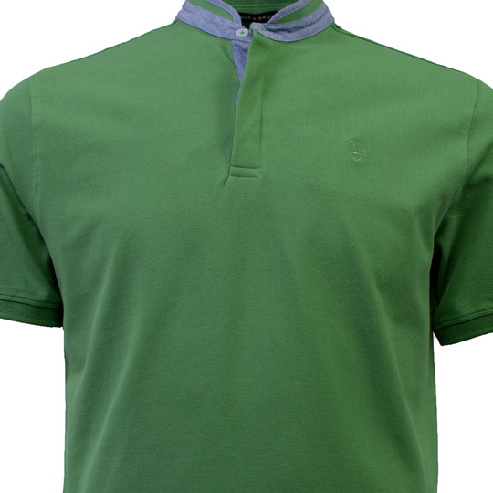 Eagle & Brown Polo Korte Mouw grasgroen uni