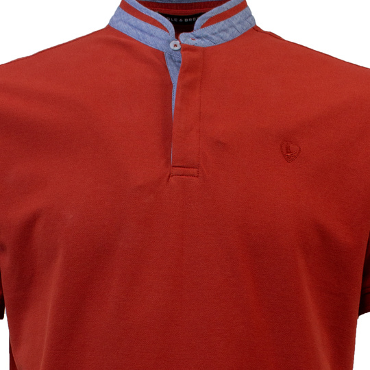 Eagle & Brown Polo Korte Mouw rood uni